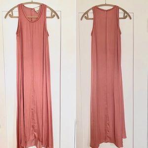 Wilfred Aritzia Dusty Mauve Flowy Maxi Dress